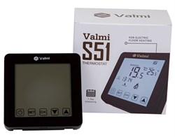 Сенсорний програмований терморегулятор Valmi  S51 чорний - фото 5078