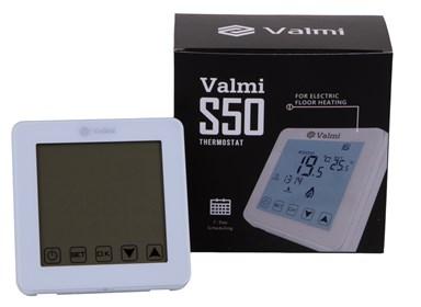 Сенсорний програмований терморегулятор Valmi  S50 білий