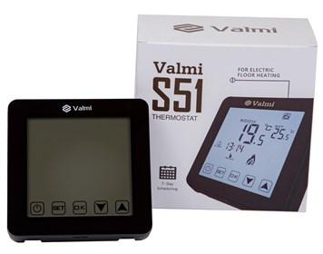 Сенсорний програмований терморегулятор Valmi  S51 чорний